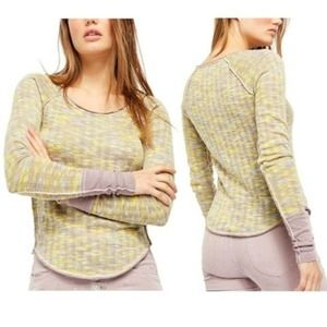 Free People Space Out Long Sleeve Knit Top New XS